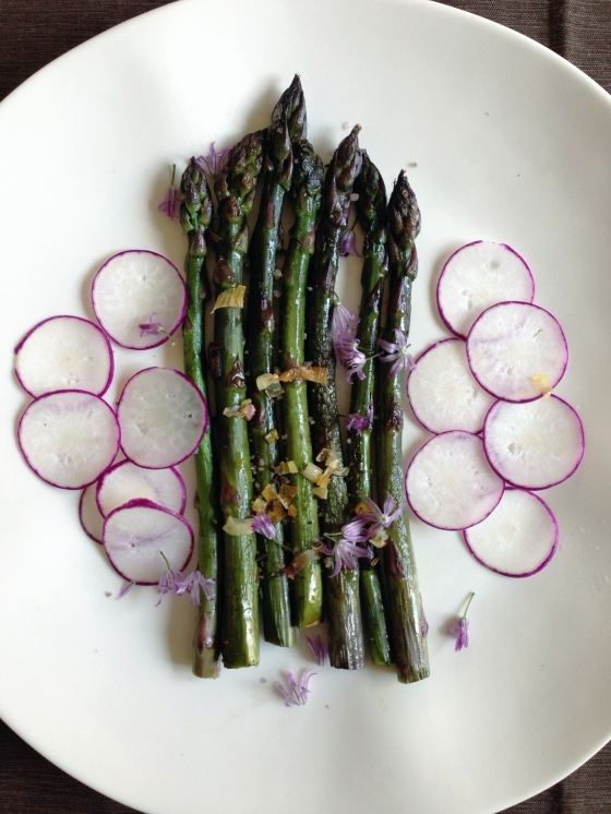 purple radish asparagus