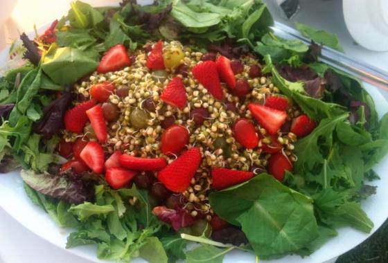 strawberry lentils